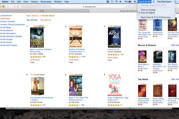 Kindle Free store rankings by Judy K. Walker