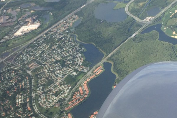 View of Orlando on approach by Judy K. Walker