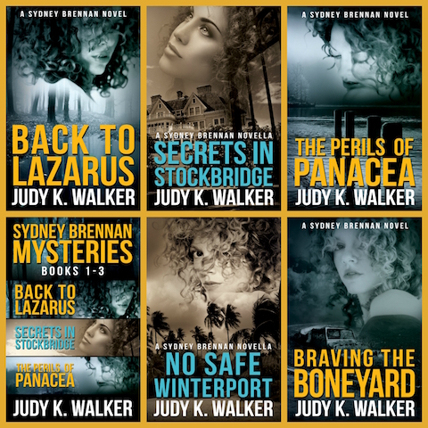 Covers for the Sydney Brennan Mysteries by Judy K. Walker