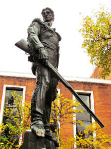 WVU Mountaineer statue by Donald De Lue via Wikimedia Commons