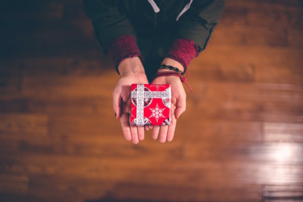 Small wrapped gift by Ben White from stocksnap.io