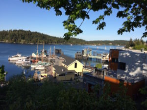 View of Friday Harbor, WA, by Paul Normann