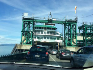 Driving onto Anacortes ferry by Judy K. Walker