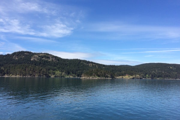 Another island view from Anacortes ferry by Judy K. Walker
