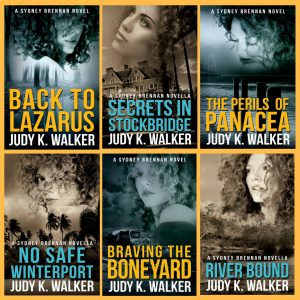 The Covers for the First Six Sydney Brennan Mysteries