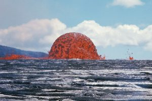 Lava fountain dome at Kilauea by J.B. Judd of USGS on 11 October 1969