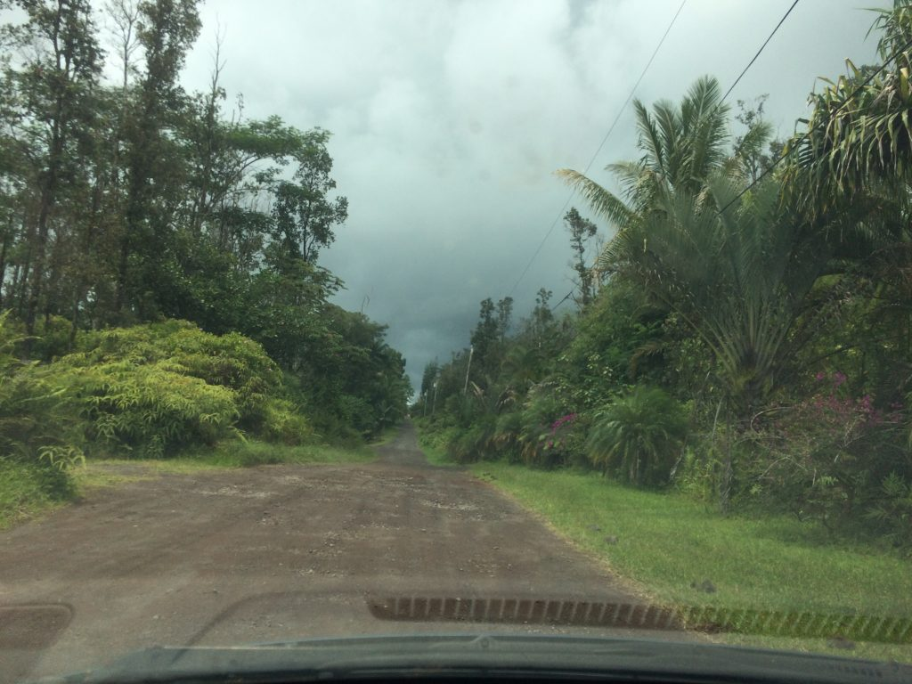 Road in lower Puna subdivision in June, 2018