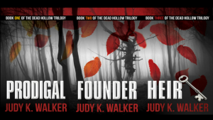 The ebook covers for the supernatural thriller Dead Hollow Trilogy