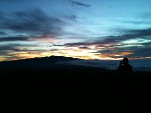 Sunset on Saddle Road, Hawaii