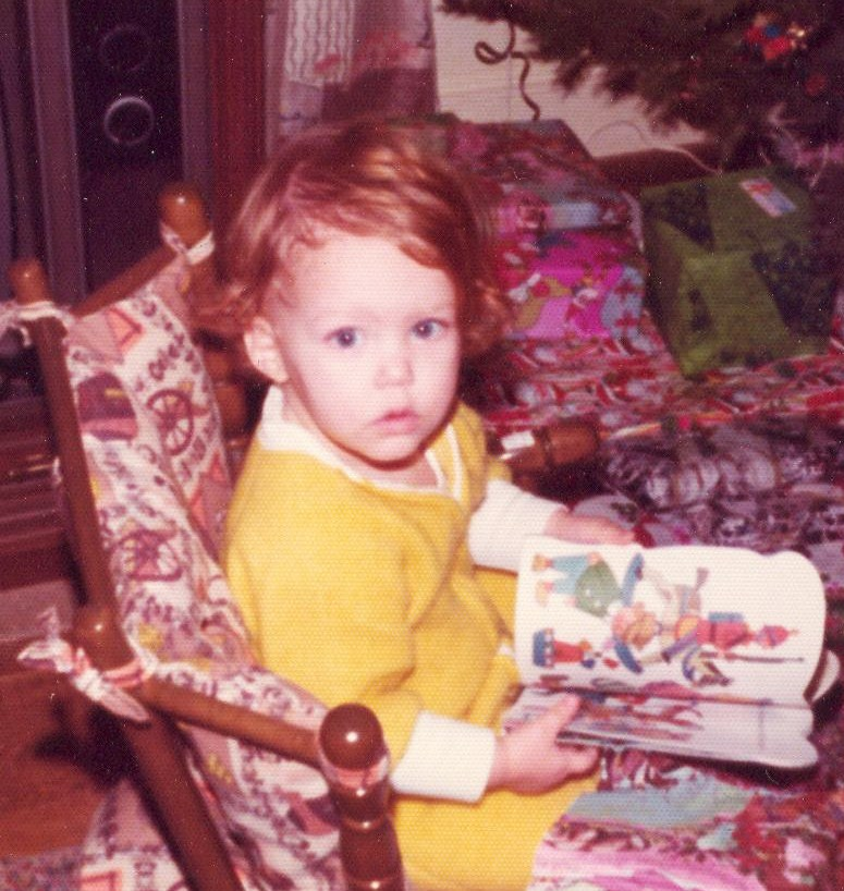 The author Judy K. Walker reading as a child