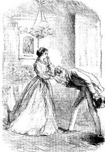 Mr Flegeby visits Mrs Lammle, art from a Victorian novel