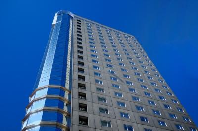 View of Boston skyscraper from below