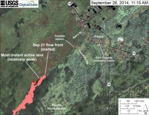 USGS 9-26-14 Map of June 27 Hawaiian lava flow