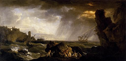 Claude Joseph Vernet, Seascape-Tempest [Public domain], via Wikimedia Commons