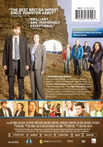 Back of DVD case for Broadchurch Season 1 DVD