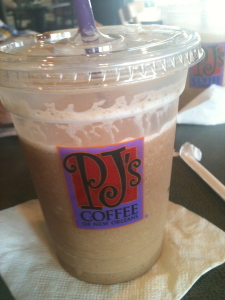 Granita frozen coffee drink from PJs in New Orleans
