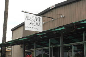 Exterior of All Saints Cafe, from Tallahassee Downtown