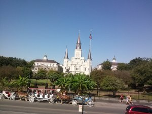 Jackson Square in New Orleans on a sunny day by Judy K. Walker