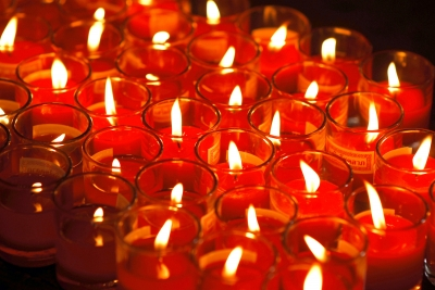 Red votive candles