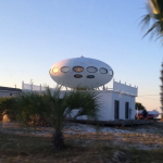 Spaceship House, Pensacola Beach, FL, by Judy K. Walker