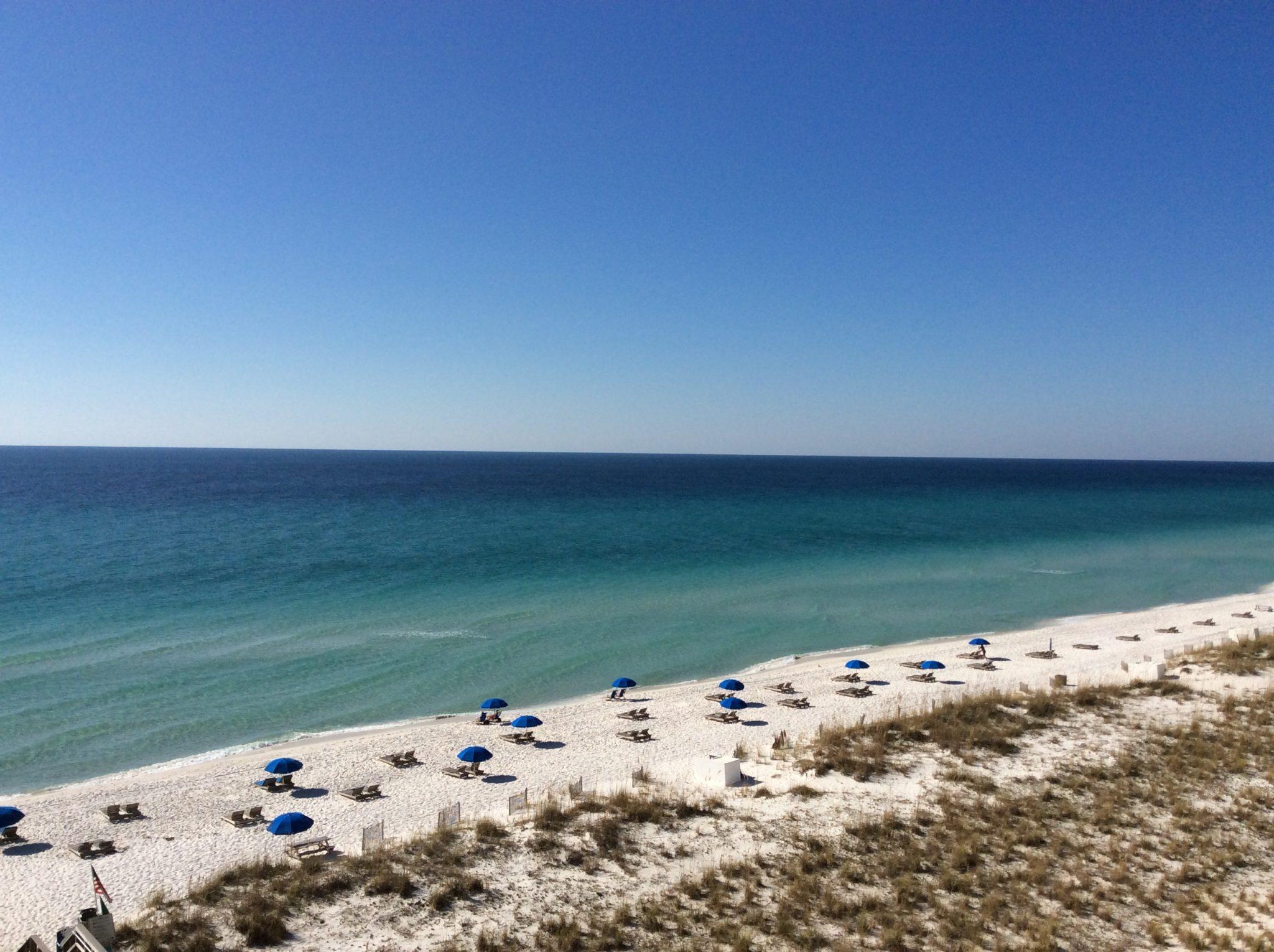 Beach behind Margaritaville Hotel, Pensacola Beach, FL by Judy K. Walker