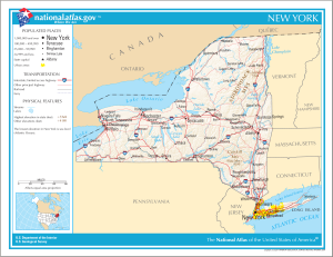 Map of New York State from National Atlas, public domain