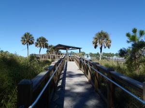 Walkway to overlook at St. Mark's Wildlife Refuge, FL, by Judy K. Walker
