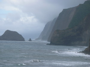 View from Pololu Valley, HI, by Judy K. Walker