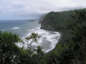 View of Pololu Valley, HI, from above, by Judy K. Walker