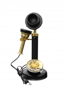 """Antique Wooden Telephone Isolated"" by Stoonn from freedigitalphotos.net"