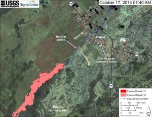 Oct 17, 2014 map of Jun 27, 2014, lava flow from Hawaiian Volcano Observatory