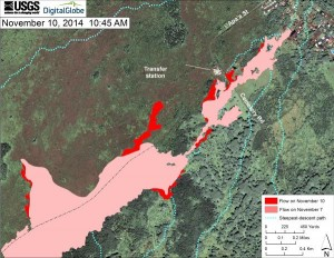 Nov 10, 2014 map of Jun 27, 2014, lava flow from Hawaiian Volcano Observatory