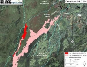 Dec 9, 2014 map of Jun 27, 2014, lava flow from Hawaiian Volcano Observatory