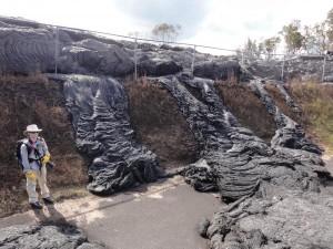 June 27, 2014, lava flow where it entered the Pahoa Transfer Station, from Hawaiian Volcano Observatory