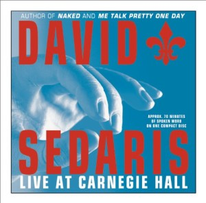 The Cover for David Sedaris Live at Carnegie Hall album