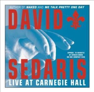The Cover for David Sedaris Live at Carnegie Hall album