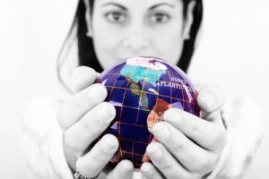 """Woman Holding World In Hands"" by David Castillo Dominici on freedigitalphotos.net"