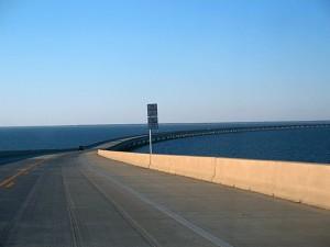 Eastpoint to St George Island FL SR 300 bridge north by Ebyabe via Wikimedia Commons