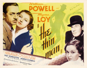 Poster from the movie, The Thin Man, by MGM via wikimedia commons