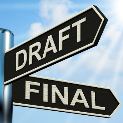 """Draft Final Signpost Means Writing Rewriting And Editing"" by Stuart Miles from freedigitalphotos.net"