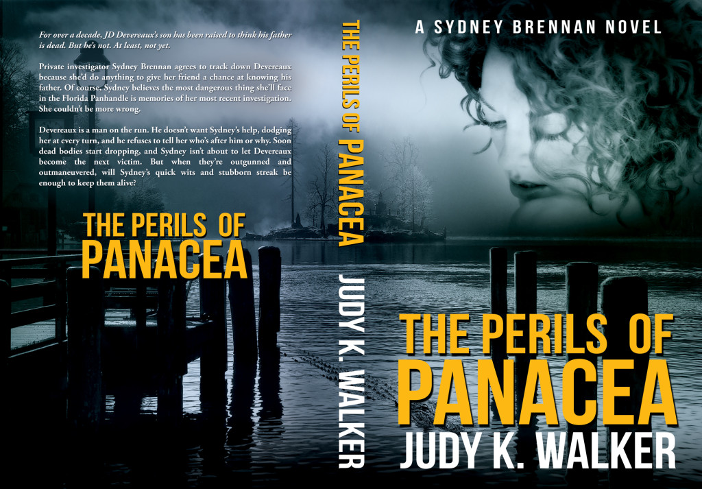 "Cover for the paperback version of the Sydney Brennan PI mystery ""The Perils of Panacea"""
