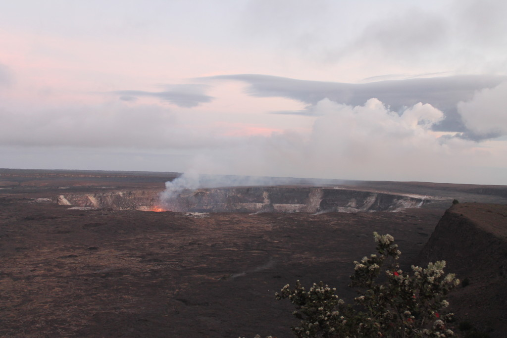 Another view of Halema'uma'u Crater from trail by Judy K. Walker