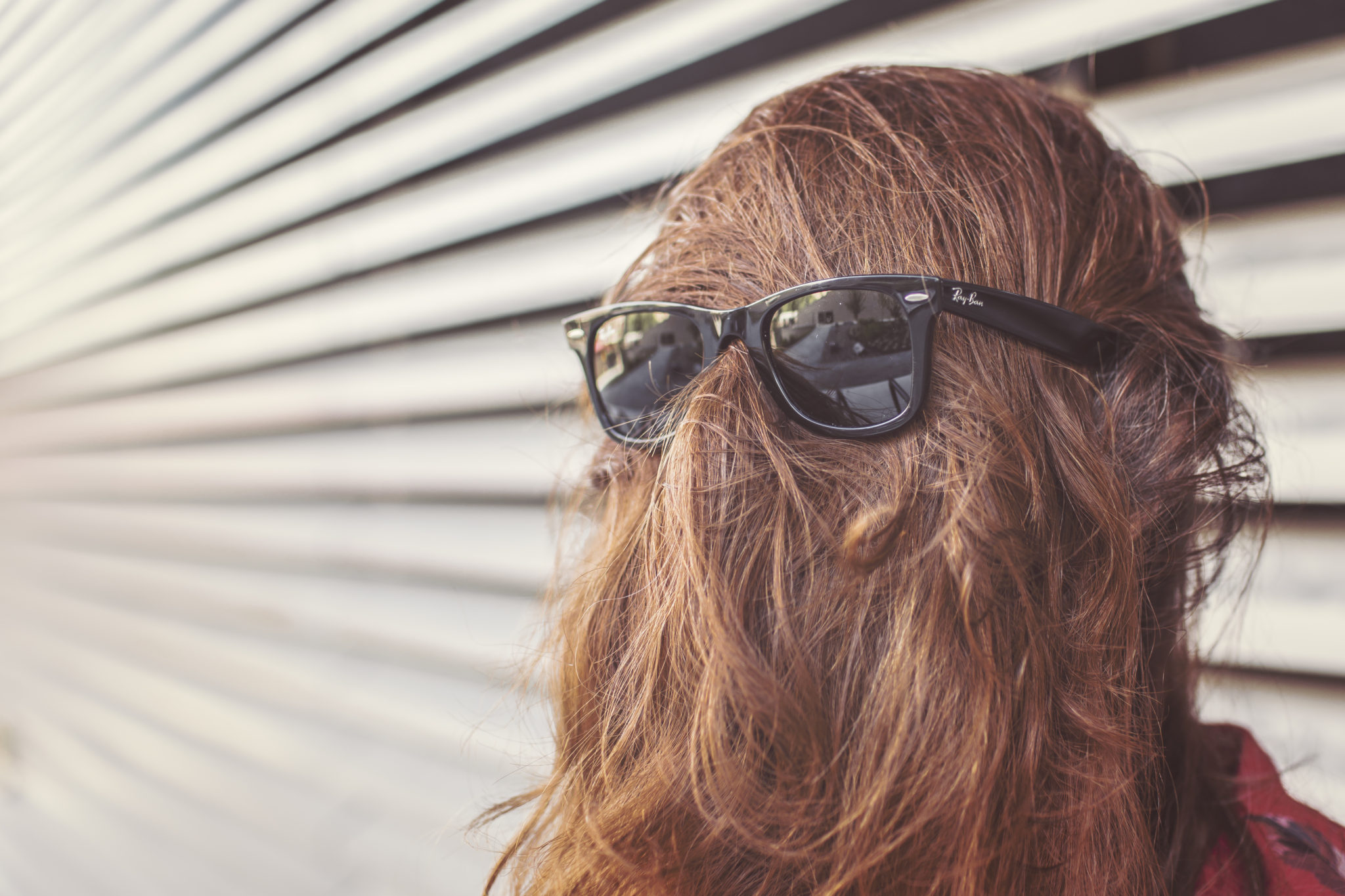 Long hair with sunglasses by Ryan McGuire from stocksnap.io