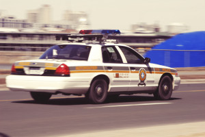 Speeding police car by Leeroy from stocksnap.io