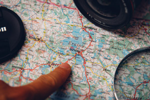Map, camera and magnifying glass by Michal Kulesza from stocksnap.io