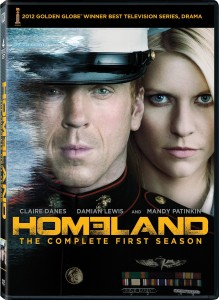 The DVD cover for Homeland Season One from Amazon