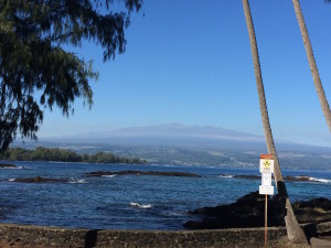 View from Richardson Beach Park (Hilo, HI) by Judy K. Walker