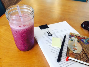 Blueberry Buzz smoothie from Sweet Cane Cafe in Hilo by Judy K. Walker