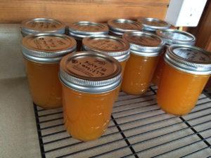 Several jars of homemade lilikoi jelly by Judy K. Walker