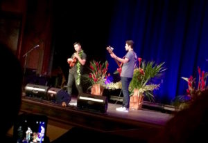 Jake Shimabukuro on ukulele and Nolan Verner on bass at the Palace Theater by Judy K. Walker